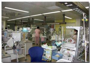 新生児集中管理部(NICU)設備の写真